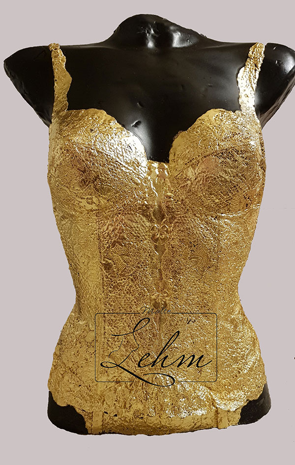 ASHLEY lingerie buste malte lehm sculpture
