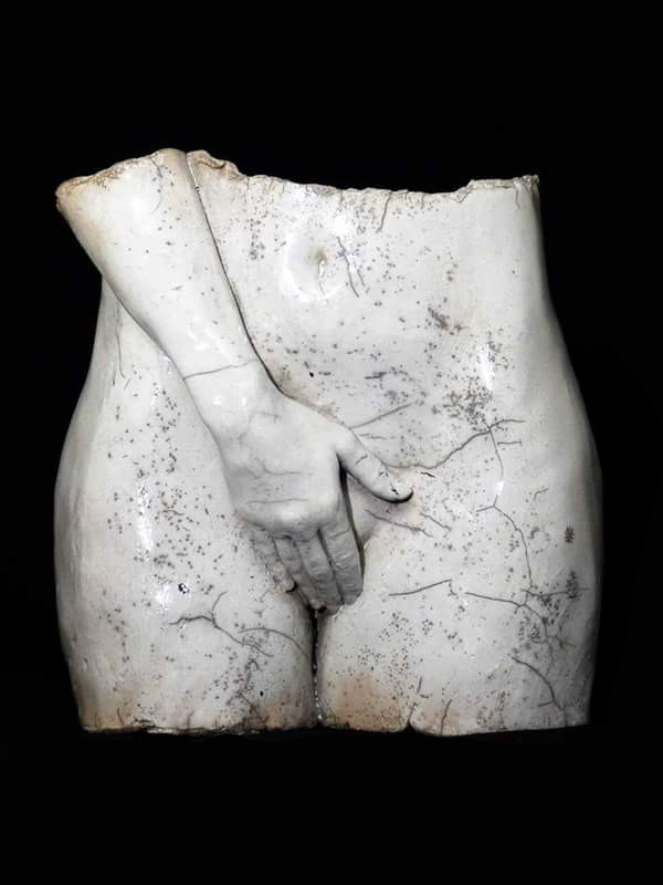 Megan bassin face sculpture femme malte lehm